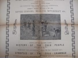 Ad for Bryant's Zulu-English Dictionary