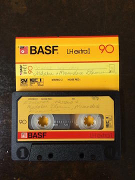 Madabu Dlamini, audio tape cassette and case label