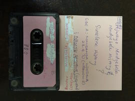 Cetwayo Mndzebele, audio tape cassette and case label (side B)