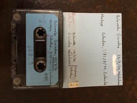 Bulawako Ginindza, audio tape cassette and case label