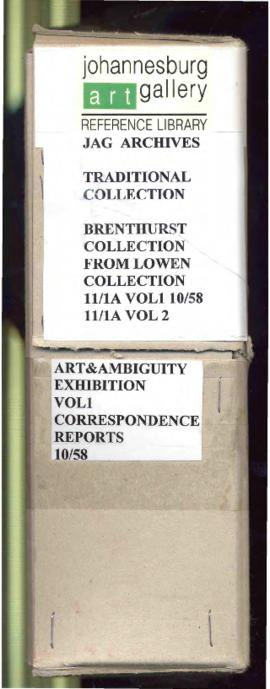 Spine of 'JAG Archives: Traditional Collection: Brenthurst Collection: From Lowen Collection...