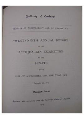 Museum of Archaeology and Anthropology Annual Report 28